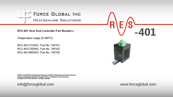 Force Global Ropex RES-401 Heatsealing Solutions